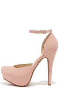 Sweetness and Light Rose Pink Nubuck Platform Heels at Lulus.com!