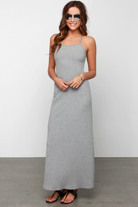 Glamorous Where Knits At Grey Maxi Dress at Lulus.com!