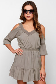 Glamorous Once Upon a Daydream Taupe Lace Dress at Lulus.com!