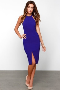Keepsake End of Time Royal Blue Midi Dress at Lulus.com!