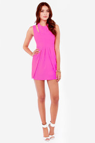 You Limelight Up My Life Neon Fuchsia Dress at Lulus.com!