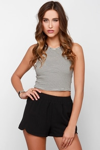 You Better Work Black Shorts at Lulus.com!