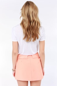 Fold It Together Now Peach Envelope Skirt at Lulus.com!