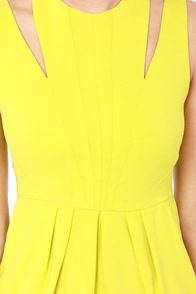 You Limelight Up My Life Chartreuse Dress at Lulus.com!
