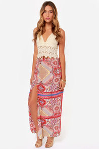 East Meets Southwest Print Maxi Skirt at Lulus.com!