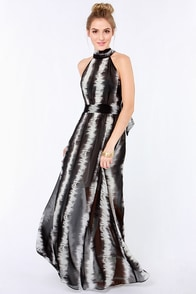 Line Tamer Ivory and Black Maxi Dress at Lulus.com!
