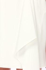 Calling All Angels One Shoulder Ivory Dress at Lulus.com!
