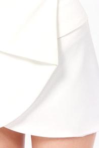 Fold It Together Now Ivory Envelope Skirt at Lulus.com!