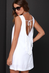 BB Dakota Elsa White Fringe Dress at Lulus.com!