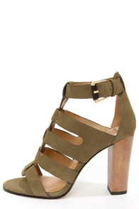 Dolce Vita Niro Moss Suede High Heel Sandals at Lulus.com!