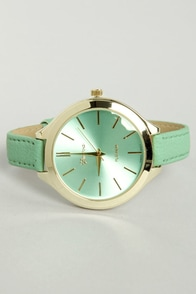 A Matter of Time Mint Green Watch at Lulus.com!
