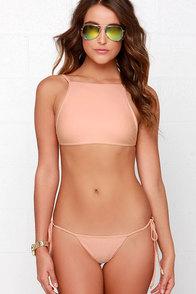 Bliss Shell Peach Bikini at Lulus.com!