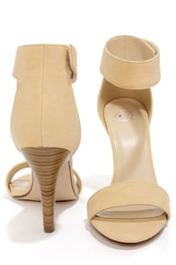 My Delicious Rosela Beige Ankle Strap Heels at Lulus.com!