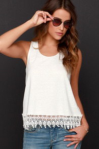 Jack by BB Dakota Nieve Cream Lace Top at Lulus.com!
