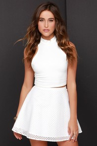Jack by BB Dakota Monte Ivory Skater Skirt at Lulus.com!