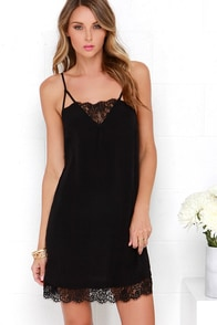 Off to Ibiza Black Lace Slip Dress at Lulus.com!