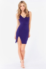Cut a Fine Figure Blue Bodycon Dress at Lulus.com!