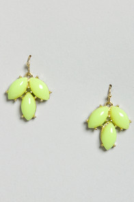 Thanks a Bunch Chartreuse Dangle Earrings at Lulus.com!
