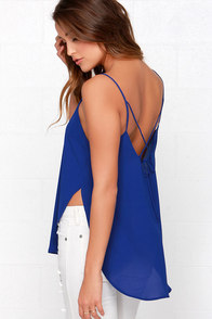 To Tie For Blue Top at Lulus.com!