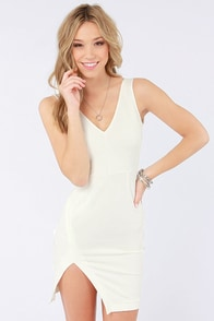 Cut a Fine Figure Ivory Bodycon Dress at Lulus.com!