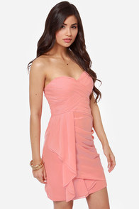 Midnight Masquerade Strapless Dark Blush Dress at Lulus.com!