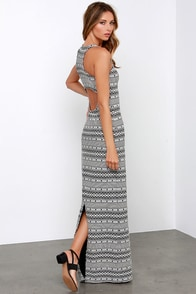 Jack by BB Dakota Seamus Black and Ivory Maxi Dress at Lulus.com!