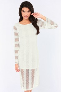 RVCA Arbuckle Ivory Lace Dress