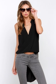 Wild Wing Black High-Low Top at Lulus.com!