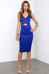 Lumier Fool's Fate Royal Blue Midi Dress at Lulus.com!
