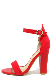 Waving Grace Red Ankle Strap Heels at Lulus.com!