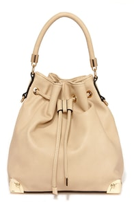 Neutral World Order Drawstring Beige Tote at Lulus.com!