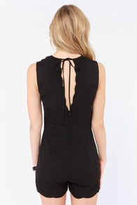 Shipshape Up Black Romper at Lulus.com!