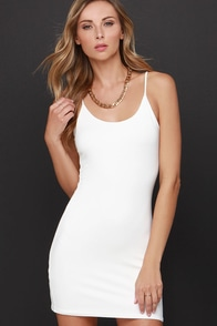 Bodycon-Tender Cream Mini Dress at Lulus.com!