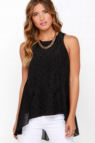Searching High-Low Black Top at Lulus.com!