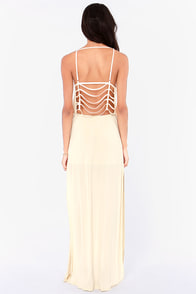 Breezy Come, Breezy Go Cream Maxi Dress at Lulus.com!