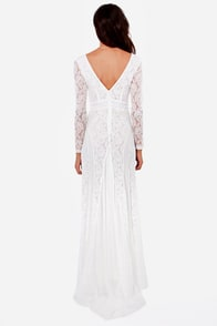 A Moment Like Bliss White Lace Dress at Lulus.com!