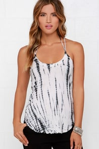 Chaser Tie-Dye Lace-Up Tank Top at Lulus.com!