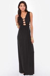 Sexy Black Dress Maxi Dress Cutout Dress 59 00