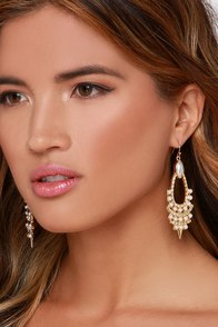 Refined and Fancy Gold Pearl Earrings at Lulus.com!