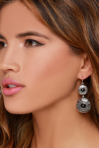 Coin the Club Silver Earrings at Lulus.com!