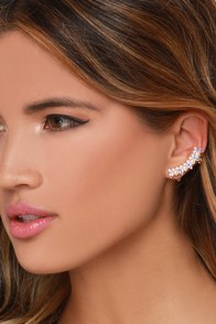 Modern Marvelous Rhinestone and Pearl Ear Cuff at Lulus.com!