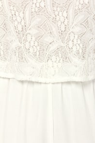 Lacy Gaga Ivory Lace Romper at Lulus.com!