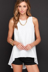 Searching High-Low Ivory Top at Lulus.com!