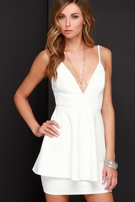 Shoot to Score Ivory Dress at Lulus.com!