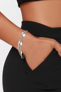 Strands of Flair Silver Chain Bracelet at Lulus.com!