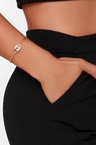 Eye'd Say So Gold Bracelet at Lulus.com!