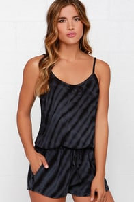Others Follow Misty Black Tie-Dye Romper at Lulus.com!