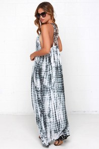 Lunar Lattice Grey Tie-Dye Maxi Dress at Lulus.com!