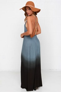 Southwest Sunset Slate Blue Dip-Dye Maxi Dress at Lulus.com!