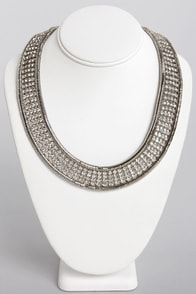Rhinestone Road Silver Necklace at Lulus.com!